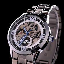 MCE Automatik Armbanduhr, (64)Silber, mit Skelett Uhrwerk, Edelstahl - super Uhr