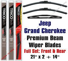 Jeep Grand Cherokee 2005-2010 Wiper Blades 3pk Front & Rear - 19210x2/14C