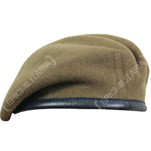 5528420f79958 100% Wool BRITISH BERET - All Sizes KHAKI High Quality Military Army ...