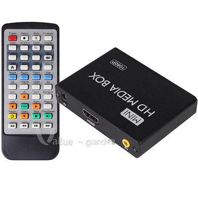 Mini Full 1080P Multi Media Player SD/MMC MKV For 2TB External Hard Drive USB