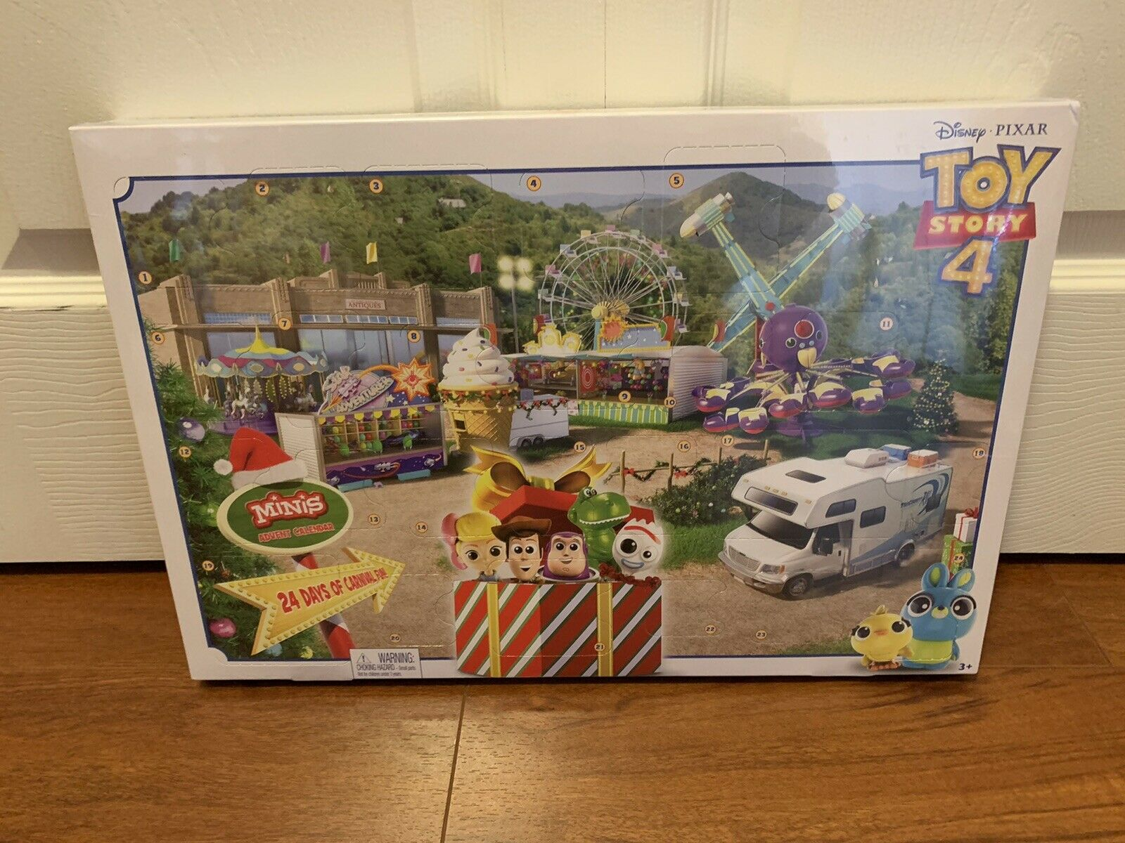 Toy Story 4 Advent Calendar 14 Mini Figures & Stickers New Sold Out HTF
