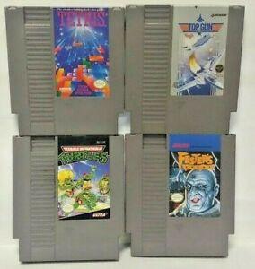 Nintendo-NES-Game-Lot-Tested-Authentic-Tetris-Fester-039-s-Quest-Top-Gun-Ninja-TMNT