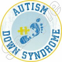 Autism Down Syndrome Special Needs Iron On T Shirt Fabric Transfer 1