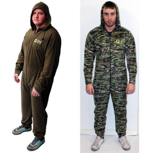 Q DOS Fleece Suit Green Or Camo Fishing All In One Thermal Fleece Underwear Suit