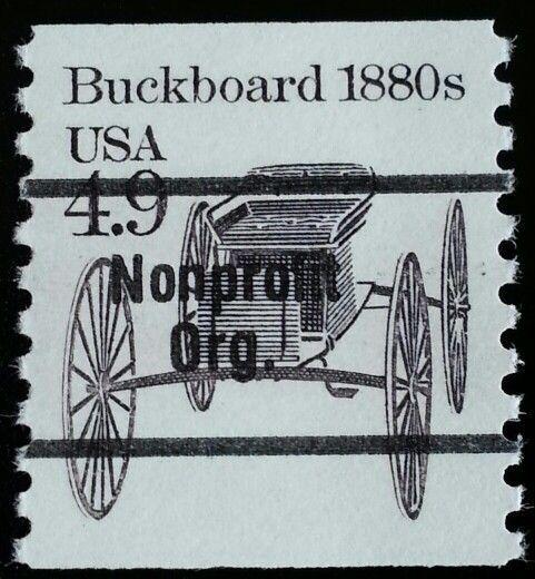 1985 4.9c Buckboard Wagon, Coil Scott 2124a Mint F/VF N