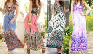 WOMEN-LADIES-SUMMER-BEACH-MAXI-DRESSES-B06-SIZE-6-8-10-12-14-16-18-20-22