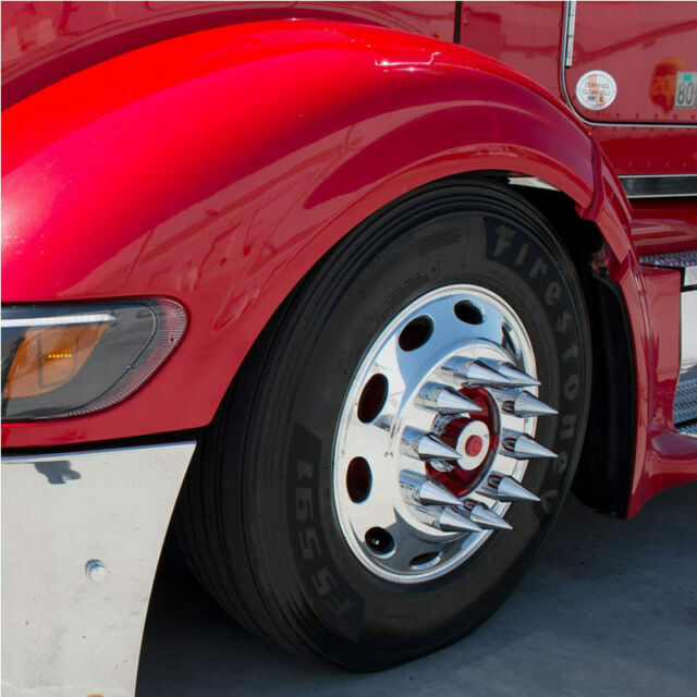 60 Pcs Semi Truck Chrome 33mm Thread-On Original Lug Nut Cover
