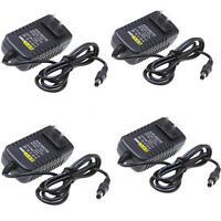 4pcs Ac100-240v To Dc12v Power Supply Converter Adapter For Led Light Strip Us