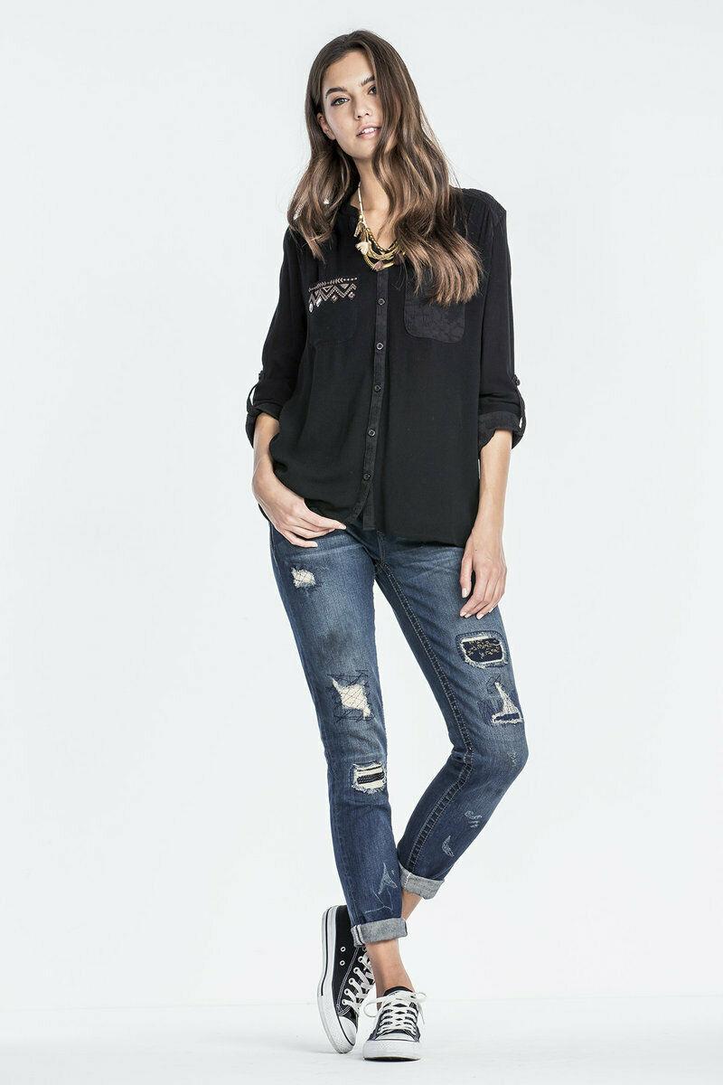 MISS ME SIZE 25 DON'T CROSS ME MID-RISE SKINNY JEANS MS5151S307