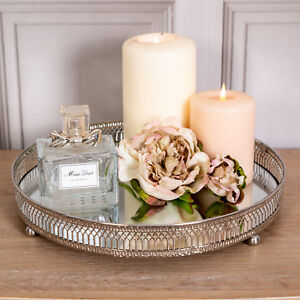 Table Centrepiece Silver Mirrored tea light holders holds 4 tea light candles