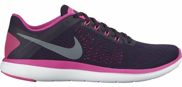 NEW Women's Nike Flex Run 2016 Running shoes - Blk Pink Purple White (Size 8)