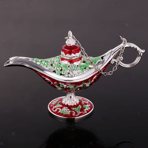 MagiDeal Vintage Hollow Flower Lamp de Aladdin Charm Jewelry Display Storage