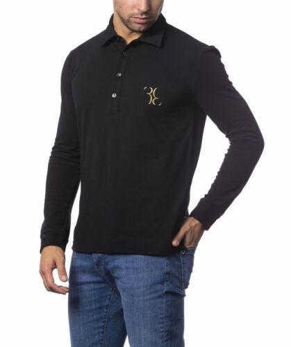 L-XL Billionaire Couture Men/'s POLO Shirts BB EMBROIDERY Black sizes