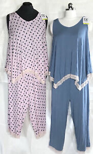 149df6830e7 Maternity Rosie Pope Pajama Sleep Set Tank   Capris Floral or Blue S ...