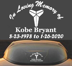 Black Mamba Kobe Bryant  VINYL DECAL sticker basketball lakers 24 8 car window