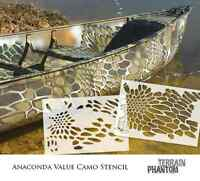 Terrain Phantom Camouflage Stencil Mylar Camo Stencil - Anaconda (value Kit)