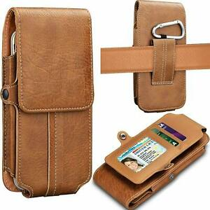 For-Samsung-Galaxy-J2-J3-J7-A6-Leather-Phone-Holster-Pouch-Case-With-Card-Holder