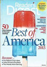 Reader's Digest July 2013 Best of America/Plane Crash in the Jungle/Robot's Joke