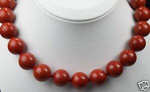 Halskette-Kette-Edelsteine-rot-Natur-Jaspis-glatt-Knotentechnik-Kugel-16mm