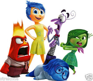 Disney Pixar Inside Out Joy Sadness Disgust Fear Anger Window Cling Sticker Ebay