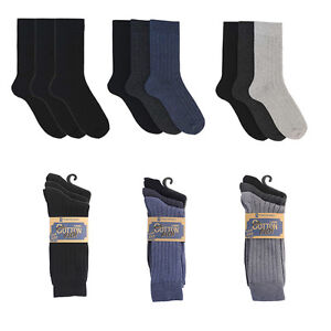 Mens-3-pack-of-Cotton-Rich-Ribbed-Socks