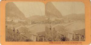 Laveno Lac Maggiore Italia Stereo Jean Andrieu Parigi Albumina Ca 1870
