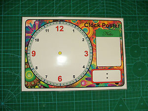 BLANK Clock Face  A4 Poster and pen  LEARN THE TIME  Teaching Learning NEW - <span itemprop='availableAtOrFrom'>Manchester, United Kingdom</span> - BLANK Clock Face  A4 Poster and pen  LEARN THE TIME  Teaching Learning NEW - Manchester, United Kingdom