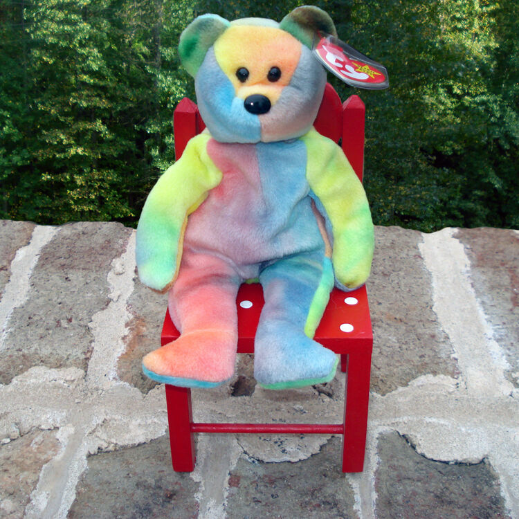 Beanies - TY 1993 Mint Garcia the Bear the Beanie Beanie Beanie Baby - Beautiful colors 3fedb2