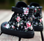 Womens-Sneakers-Flat-Lace-Up-Canvas-Shoes-Girls-Floral-High-Top-Trainers-Chic-SZ thumbnail 10