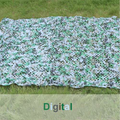 Woodland Camouflage Netting Military Camo Hunting Cover Net Backing Mesh Tent