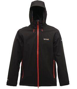 REGATTA-TOPOUT-MENS-JACKET-BLACK-WATERPROOF-ISOTEX-15000-RMW200
