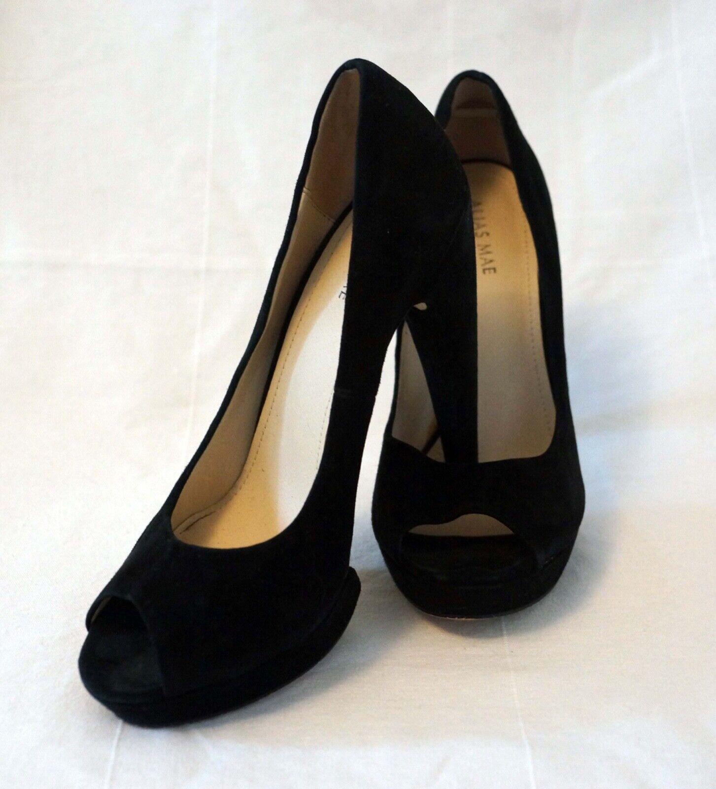 ALIAS MAE -Sued high heel peep toe with platformSize 8- 12cm heel