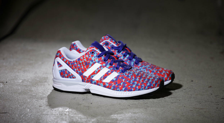 Adidas ZX Flux Weave Torsion Night Flash Prism Footwear Weiß  - UK 10