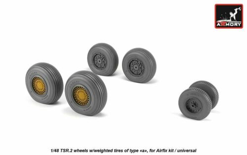 "Armory araw 48412 1//48 BAC TSR.2 roues avec pondérée pneus type /""A/"""
