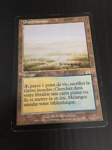 MTG-ONSLAUGHT-FLOODED-STRAND-FRENCH-GREVE-INONDEE-NM