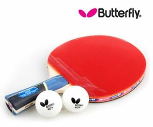 Butterfly-Timo-boll-2000-Shakehand-Table-Tennis-Ping-Pong-Racket-Free-2-balls