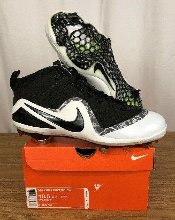 New ⚾ nike vigore zoom trossoa 4 metà metal scarpe da baseball bianco nero taglia 10,5 | Premio pazzesco, Birmingham  | Uomo/Donne Scarpa