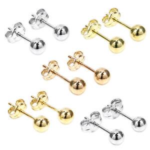 PAAR-KUGEL-OHRSTECKER-echt-Gold-375-585-oder-Silber-925-OHRSCHMUCK-OHRRINGE-NEU