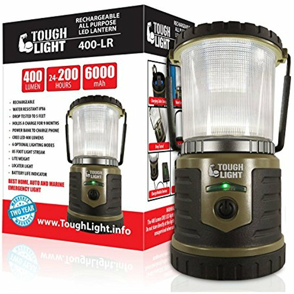 LED Rechargeable Lanterns Lantern - 200 Hours Of Light From Single Charge, On