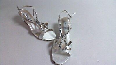Nuevo: retoques Boda/Noche Zapatos-Blanco-Bernie-US 7 M UK 5 #29R421
