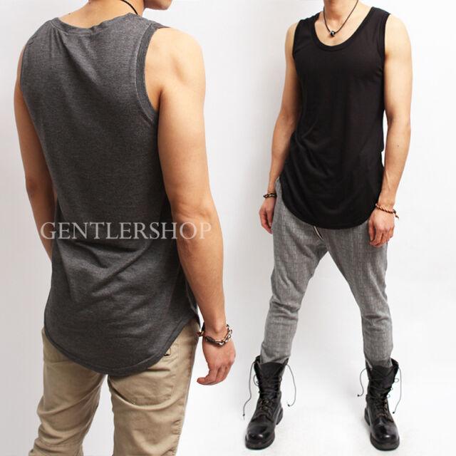 Avant- garde Mens Fashion Crew Neck Tank Top, GENTLERSHOP