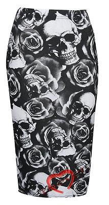 Womens Ladies Bodycon Animal Print Pencil Skirt Midi Calf Length Casual SZ- 8-26