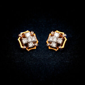Pave-0-73-Cts-Round-Brilliant-Cut-Natural-Diamonds-Stud-Earrings-In-18Carat-Gold