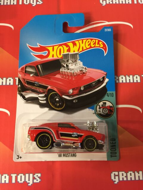 68 Mustang #27 Red 2017 Hot Wheels Case B