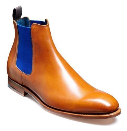 Men Handmade Tan Chelsea Dress Ankle Formal Leather Boots,,Jumper ankle pull up