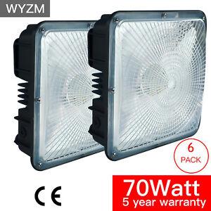 70w Led Canopy Light Commercial High Bay Light Fixture 6900 Lumen 5000k Set Of 6 652508406244 Ebay