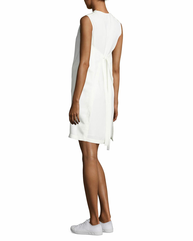 929076694f HELMUT LANG Mini Apron Dress in Ivory - Size 10 NEW nsfswb2317 ...
