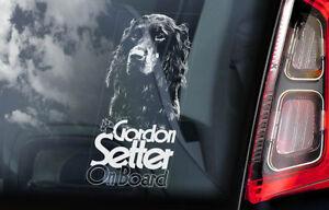 Gordon-Setter-On-Board-Auto-Finestrino-Adesivo-Cane-Firmare-Gundog-Regalo