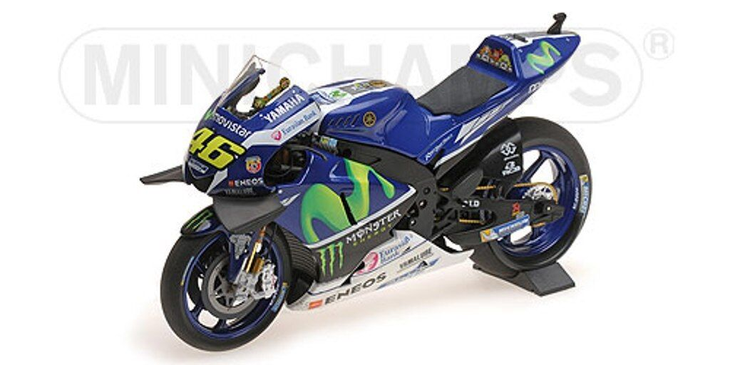 MINICHAMPS 122 163146 YAMAHA YZR M1 model bike bike bike V Rossi win Catalunya 2016 1 12th 7b9a76