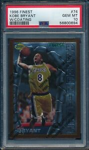 1996 Finest Basketball W/ COATING Kobe Bryant ROOKIE #74 PSA 10 LAKERS GEMMT HOF